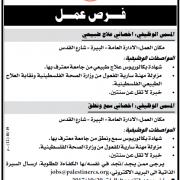 Palestine Polytechnic University (PPU) - وظائف شاغرة - جمعية الهلال الأحمر الفلسطيني