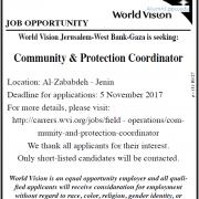 Palestine Polytechnic University (PPU) - Community & Protection Coordinator - World Vision