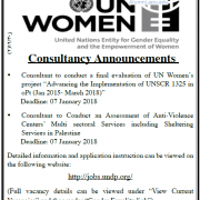 Palestine Polytechnic University (PPU) - Consultancy Announcements - UN WOMEN