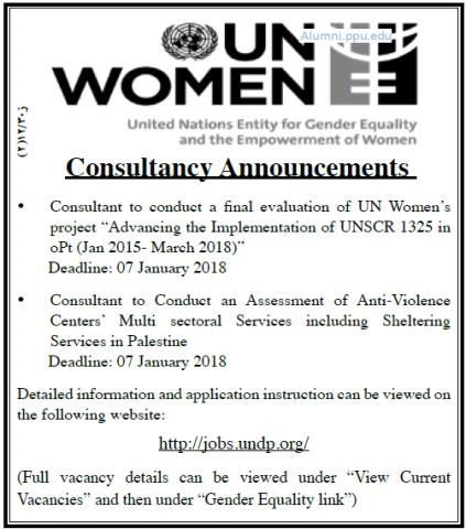 Palestine Polytechnic University (PPU) - Consultancy Announcements - UN WOMEN